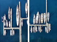 Find Yacht Club Diptych (Large) by Tommy Clarke online. Choose from thousands of contemporary artworks from exciting artists expertly-vetted by Rise Art's curators. Buy art online with confidence with free art advisory. Color Photography, Landscape Photography, Colourful Photography, Aerial Photography, Dash And Dot, Rise Art, Art Advisor, Buy Art Online, Contemporary Artwork