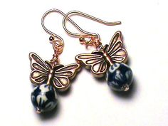 Ravenclaw Follow the Butterflies Earrings by MidnightHouseElves