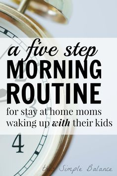 A realistic morning routine for moms who can't wake up early. Moms | Morning Routine | Night Owl | Not Early | Mom Time