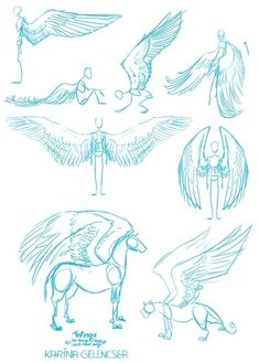 Imagem de wings, art, and drawing