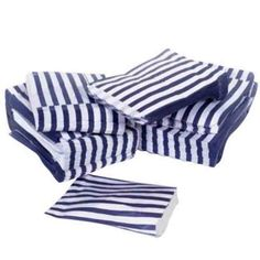 navy blue candy stripe paper bags