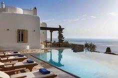 Mykonos Villa Aphrodite in dandy Agios Lazaros - HomeTality Barbecue Garden, Mykonos Villas, Mega Mansions, Luxury Villa Rentals, Luxury Estate, Resort Villa, Private Pool, Stunning View
