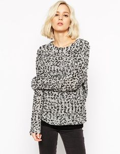 Selected Textured Jumper with Metallic Fleck