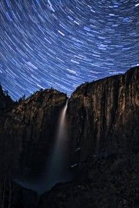 Upper Falls: Star Trails photo by Brian Bovard, entered in the Defenders of Wildlife 2012 photo contest.  Taken at Yosemite CA.
