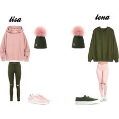 Outfits: Lisa or Lena? I would choose Lisa. Twin Outfits, Teenage Girl Outfits, Cute Outfits For Kids, Teenager Outfits, Cute Summer Outfits, Matching Outfits, Outfits For Teens, Bff, Lisa Or Lena