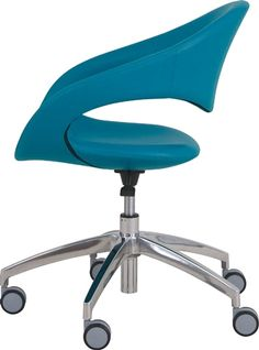 As fresh ideas for customization and personalization reshape the office environment, there comes a growing need for furnishings with easily individualized features. The Samba features a fully upholstered seat over a tubular steel frame with cold injected urethane foam. Available with 4-leg tubular steel base or aluminum 5-star swivel base.