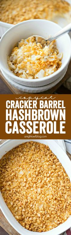 This Copycat Cracker Barrel Hashbrown Casserole has all the taste of your restaurant favorite that you can enjoy at home!