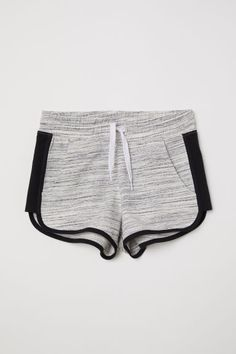 Lightweight sweatshorts with an elasticized drawstring waistband and side pockets. Legs with contrasting trim and side stripes. Girls Fashion Clothes, Girl Fashion, Fashion Outfits, H&m Shorts, Knit Shorts, Our Girl, Short Girls, Toddler Outfits, Stripes
