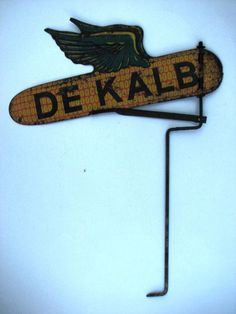 Vintage Dekalb Seed Corn Weathervane Tin Metal Farm Seed Sign 1940s | eBay