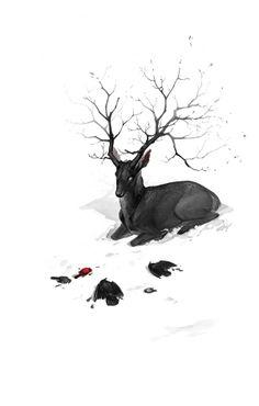 "Image Spark - Image tagged ""deer"", ""white"", ""black"" - bueshang"
