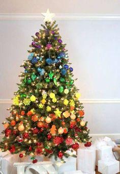 Árvores de Natal -Árvore de Natal arcoiris