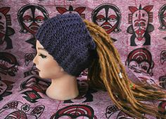Handmade knitted extra wide headband for dreads  Dreadwrap