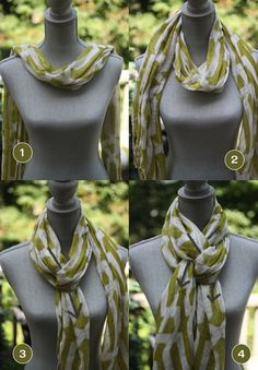 How to tie a scarf in a pretzel knot More