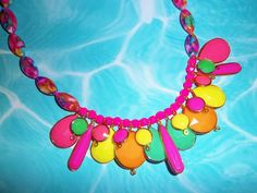 Neon Niblets Necklace by TheToteTrove on Etsy