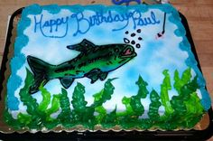 cookie cake with fish design - Google Search