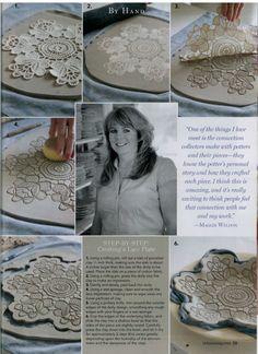 Victoria Magazine : Maggie Weldon, Lace Pottery Ornamental Bowls