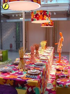 missoni inspired table scape