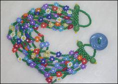Daisy Chain Bracelet Jewelry Making Beads, Beaded Jewelry, Beaded Bracelets, Jewellery, Peyote Patterns, Beading Patterns, Beaded Spiders, Lazy Daisy Stitch, Daisy Chain