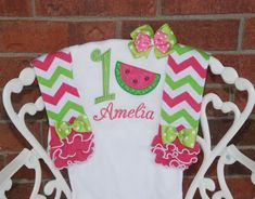 Watermelon Birthday Outfit! Baby Girl First Birthday Outfit/Summer 1st Birthday Outfit/First Birthday Leg Warmer Outfit/Watermelon Outfit