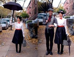 Mary Poppins and Bert the Chimney Sweep... Yep... this is what I want to do for Halloween this year!