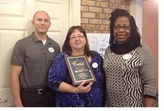 Florence Okocha, LPN, Valerie Valdez, Executive Director and Kevin Nichols, LPN and Wellness Director (photo)