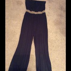 Black jumpsuit Very comfy, tubed top,elastic banded waist Pants Jumpsuits & Rompers