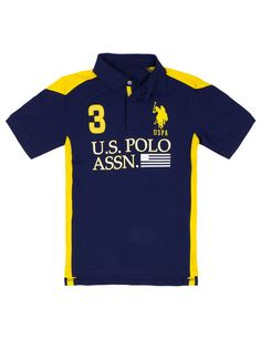 Boy's US Polo Assn Color Block Polo Shirt