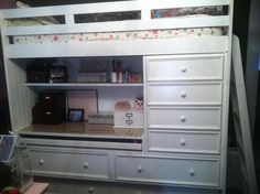 Loft Bed with Drawers and a Closet - Very Nice!