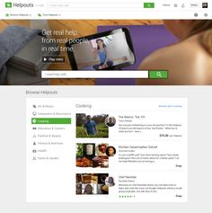 uses online video for teachable moments Android Web, Google Hangouts, Video Page, Online Security, Career Education, Fitness Nutrition, Real People, Connection, Product Launch