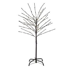 Kurt Adler 4-Foot Brown Tree with Warm White Twinkle LED Lights