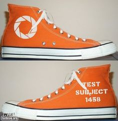 Portal canvas shoes. WANT.