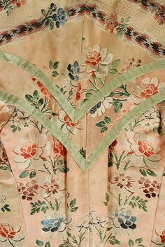 late 18th century bodice (center back detail), American or European, made of silk, The Metropolitan Museum of Art C.I.60.22.10