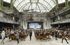 Chanel Haute Couture Fall/Winter - they created a decaying theatre set (complete with rubble) inside the Grand Palais!