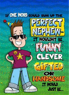 Happy birthday nephew wishes free online family birthday cards e the joke shop nephew personalised nephew birthday greeting card bookmarktalkfo Gallery