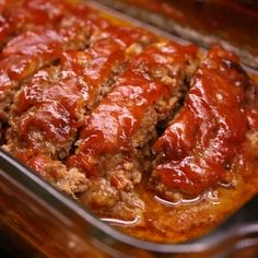 Simple Meatloaf Recipe - Going to try this one - Garrett's picky about his meatloaf!