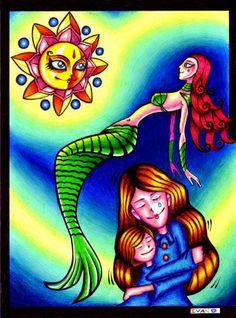 """""""Derling y la Aurora"""" (Ilustraciòn para cuento infantil)"""