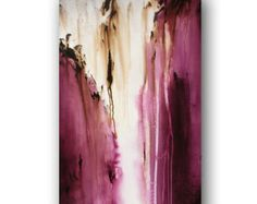 Plum Purple Painting on Canvas Abstract Art Large Original Painting Contemporary Art 36 x 24 Heather Day Original Paintings