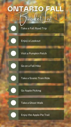 Are you looking for fun things to do in fall in Ontario? Here's your epic Ontario fall bucket list for the best things to do in Ontario in the fall! You'll discover the top Ontario fall activities, from fall road trips in Ontario to enjoy fall colours! I Ontario travel I places to go in Ontario in autumn I fall activities in Ontario I where to go in Ontario in the fall I autumn in Ontario I things to do in Ontario in October I things to do in Ontario in September I #Ontario #fall #Canada Alberta Travel, Scenic Train Rides, Vancouver Travel, Ontario Travel, Visit Canada, Montreal Travel, South America Travel, North America, Canada Travel