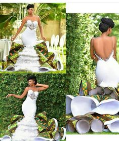 Latest Scuba Designs With Ankara Patches 2019 African Print Wedding Dress, African Bridesmaid Dresses, Short African Dresses, African Wedding Attire, Latest African Fashion Dresses, Designer Wedding Dresses, Wedding Gowns, South African Traditional Dresses, Traditional Wedding Attire