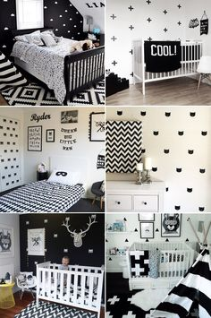 kids room decorating ideas unisex bunkbeds wirh green and blue walls Toddler Rooms, Baby Boy Rooms, Baby Bedroom, Baby Room Decor, Nursery Room, Girls Bedroom, Bedroom Decor, White Kids Room, Black White Nursery