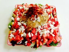 Sofie's Kitchen: Healthy Fruity Summer Salad with Chicken and Goat ...