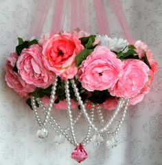#DIY Kids Chandelier - perfect for a little girl's Princess Room