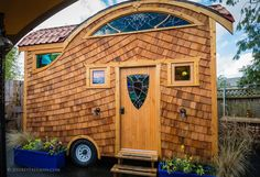 The Zenia is an ADA accessible 16' tiny house designed and built by Abel Zyl, founder of Zyl Vardos. Available for nightly rental in Portland, Oregon.