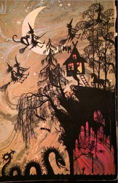 Halloween Images, Halloween Graphics, Happy Halloween Vintage Art, Scary Halloween Pictures. #HalloweenImages