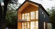 Sustainable Architecture – Page 3215023427 Modern Glass House, Modern House Design, Modern Wooden House, Sustainable Architecture, Modern Architecture, Scandinavian Style Home, Scandinavian Design, Log Home Designs, Kit Homes