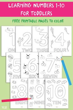 YES! we made this – Printable Activites for Creative Kids - Kids&Baby Toys Preschool Activity Sheets, Learning Numbers Preschool, Printable Activities For Kids, Preschool Learning Activities, Preschool Printables, Number Activities, Preschool Themes, Preschool Worksheets, Free Printables