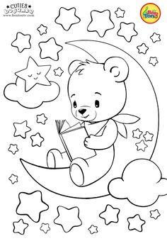 Cuties Coloring Pages for Kids Free Preschool Printables Slatkice bojanke Cute Animal Coloring Books by BonTon TV Free Kindergarten Worksheets Pre. Bear Coloring Pages, Coloring Sheets For Kids, Disney Coloring Pages, Free Coloring, Coloring Pages For Kids, Coloring Books, Art Drawings For Kids, Easy Drawings, Drawing For Kids
