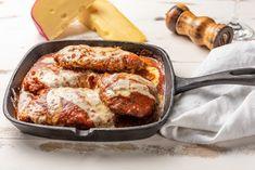 Easy Chicken Parmesan Recipe Top Recipes, Meat Recipes, Cooking Recipes, Turkey Recipes, Casserole Recipes, Recipies, Italian Dishes, Italian Recipes, Salsa Marinara