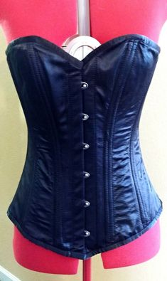a05ac198097cf Longline double steel boned satin corset size 30 (ladies waist size 32-35