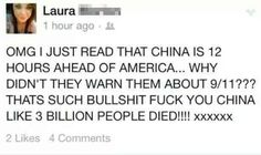 Laura and her conspiracy theories: